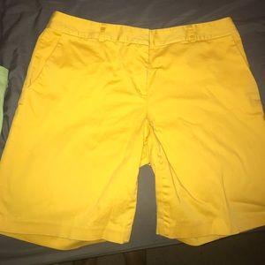 Yellow MK Shorts